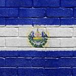 Flag of El Salvador on brick wall — Stock Photo #5400116