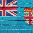Stock Photo: Flag of Fiji on brick wall