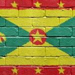 Флаг Гренады на кирпичной стене — Стоковое фото