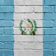 Flag of Guatemala on brick wall — ストック写真