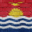 Flag of Kiribati on brick wall — ストック写真