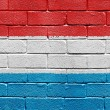 Flag of Luxembourg on brick wall — Stock Photo