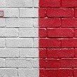 Flag of Malta on brick wall — Stockfoto