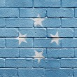 Stock Photo: Flag of Federated States of Micronesion brick wall