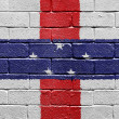 Flag of Netherlands Antilles on brick wall — ストック写真