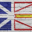 Flag of Newfoundland on brick wall — Lizenzfreies Foto