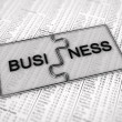 Business puzzle — Stock Photo