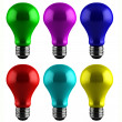 Colorful light bulbs — Stock Photo