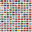 World Flags Set — Foto Stock