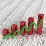 gráfico de acciones — Foto de Stock   #5407693