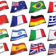 World Flags — Stock Photo