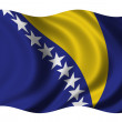 Flag of Bosnia Herzegovina — Stock Photo