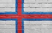 Flag of the Faroe Islands on brick wall — Stock Photo