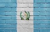 Flag of Guatemala on brick wall — Stock Photo