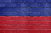 Flag of Haiti on brick wall — Stock Photo