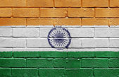 Flag of India on brick wall — Stock Photo