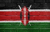 Flag of Kenya on brick wall — Stock Photo