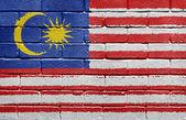 Flag of Malaysia on brick wall — Stock Photo