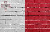 Flag of Malta on brick wall — Stock Photo
