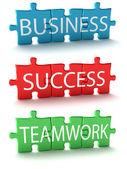 Puzzle de negocios — Foto de Stock