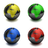 Colorful 3D globes — Foto de Stock