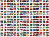 Världens flaggor set — Stockfoto