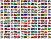 World Flags Set — Fotografia Stock