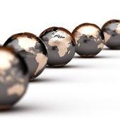 World globes — Stock Photo