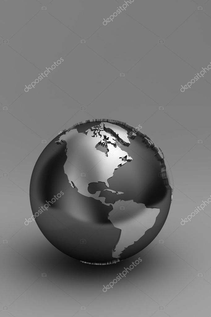 Globe showing North and South America over gradient background — Stock Photo #5407553