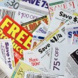 Coupon savings - Stock Photo