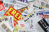 Coupon savings — Stock Photo