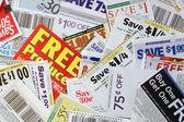 Coupon savings — Stock Photo