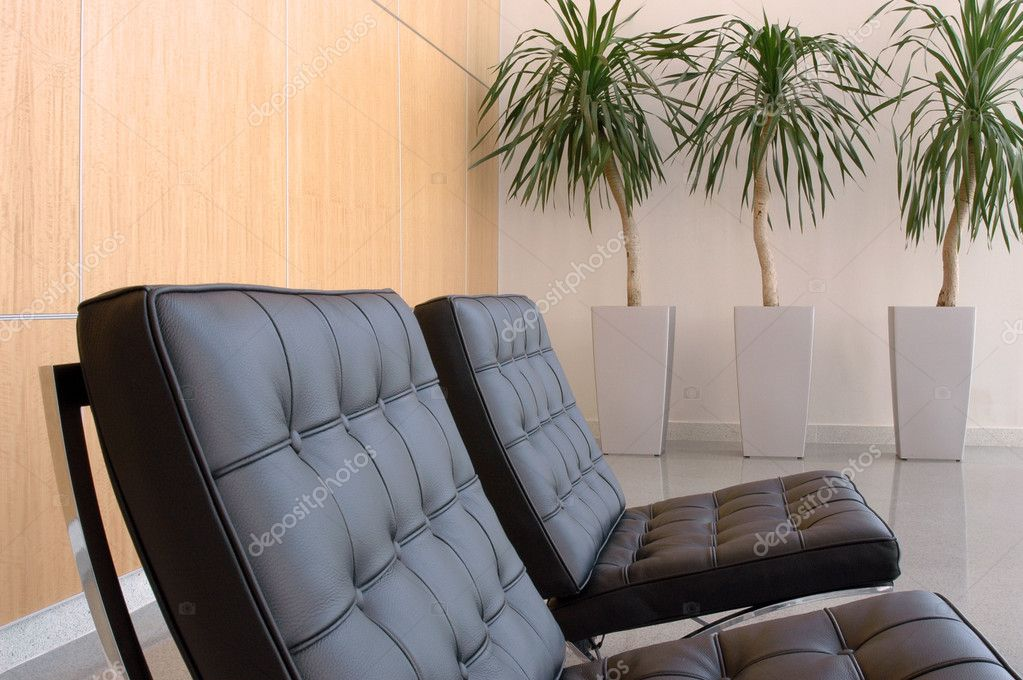 View of interior of business lobby  Stock Photo #5439633