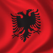 Flag of Albania - Foto Stock