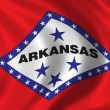 Flag of Arkansas — Lizenzfreies Foto