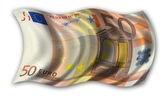 Fifty Euro Flag — Stock Photo
