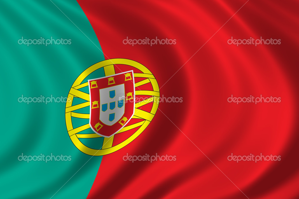 Flag of Portugal waving in the wind  Stock Photo #5440563