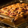 Cherry chocolate chip cake - Stock Photo