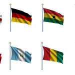 Всемирный флаг установлен 9 — Стоковое фото