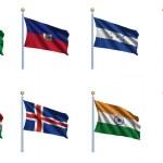 vlag van de wereld 10 in te stellen — Stockfoto