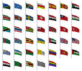 World Flags Set 4 of 4 — Stock fotografie