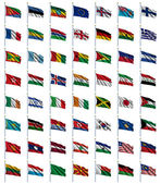 World Flags Set 2 of 4 — Zdjęcie stockowe