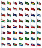 World Flags Set 3 of 4 — Stok fotoğraf