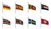 World Flag Set 22 — Stock Photo