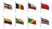 World Flag Set 5 — Foto de Stock