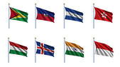 World Flag Set 10 — Stock Photo