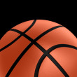 Basketball over black — Foto de Stock