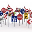Traffic signs — Stok fotoğraf