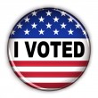 Patriotic vote button — Stock Photo #5535548