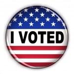 Patriotic vote button — Stock Photo #5535548